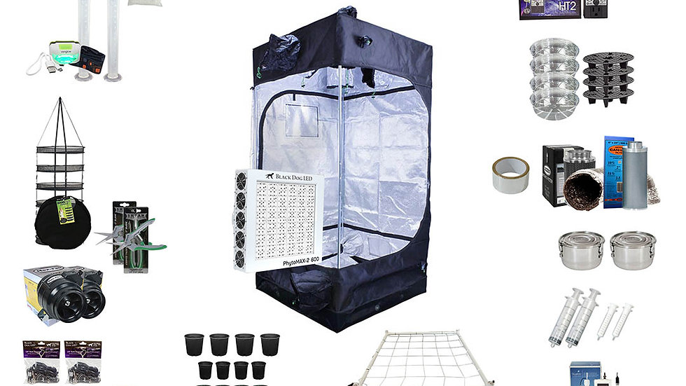 Complete Grow Kit 3.3x3.3x6.5 Tent Kit PM2-600W