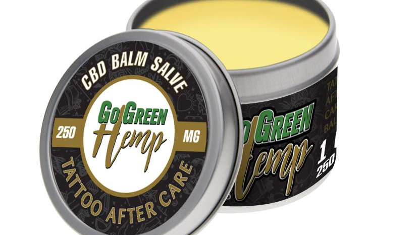 GoGreen Hemp CBD Tattoo After Care Balm 250mg