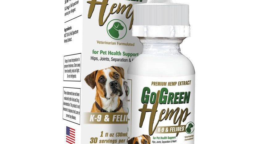 GoGreen Hemp CBD Dog & Cat Oil Drops