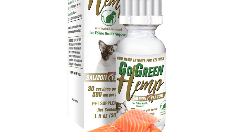 GoGreen Hemp CBD Salmon Feline Tincture 500mg