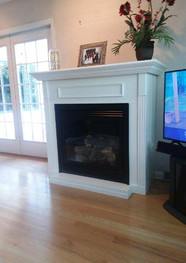 Vail Vent-Free Fireplace with Cabinet