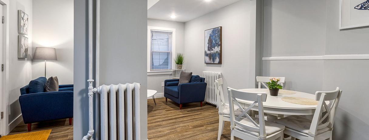 52 Irving St, Cambridge, MA, USA. Unit 4 - Diningroom & Livingroom