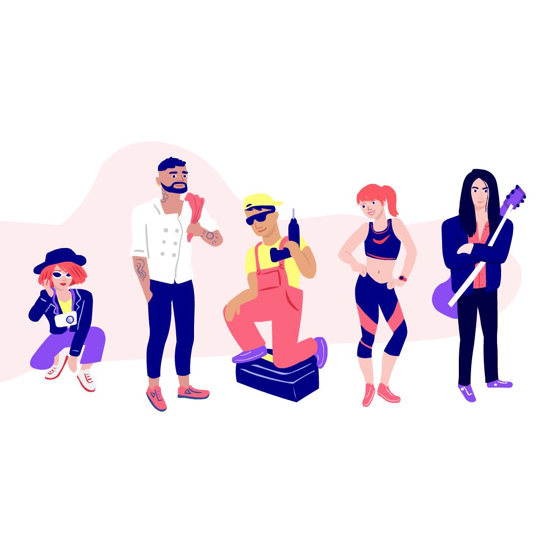 Illustration for Ugotit App