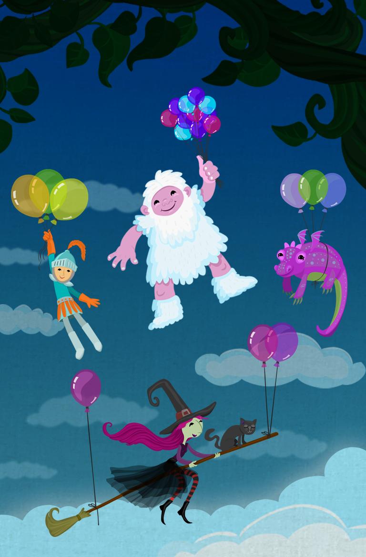 Fairy Tale Domino app illustrations