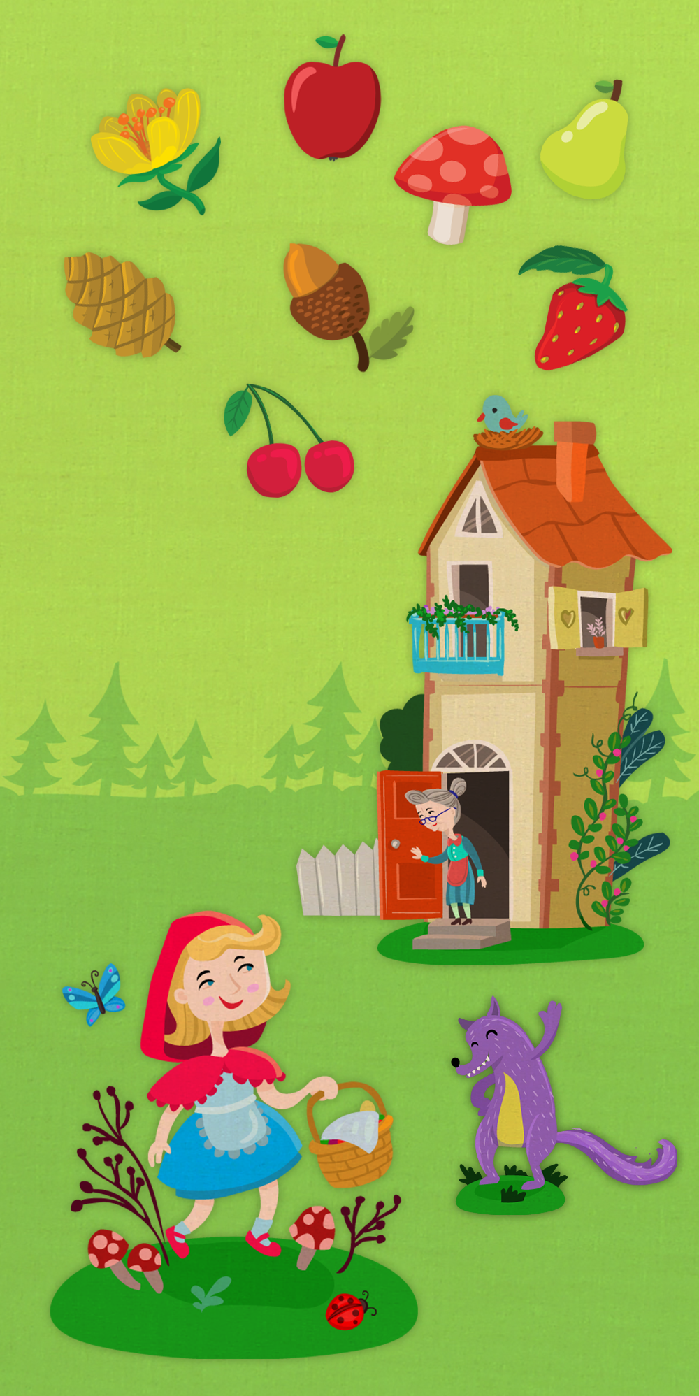 Fairy Tale Domino app illustrations