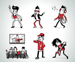 Character design for Walla Music