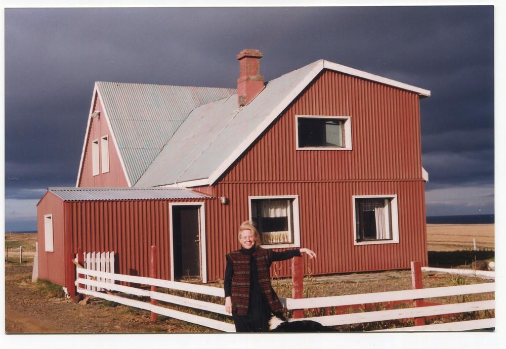 Cathy Josephson at farmhouse