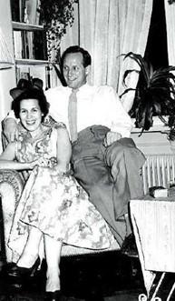 Ottó and his wife, Gyða Jónsdóttir, 1955.