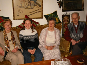 In Iceland in 2002 Elin met her grandparents for the first time since leaving Iceland in 1983.