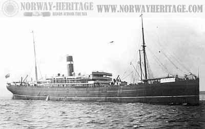 black and white image of the ship SS Australasian