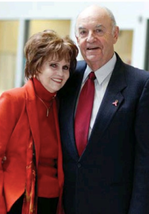 portrait of philanthropists Irene and Les Dubé