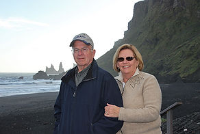 Gary and Sue Atwood at Vik in  Iceland-s