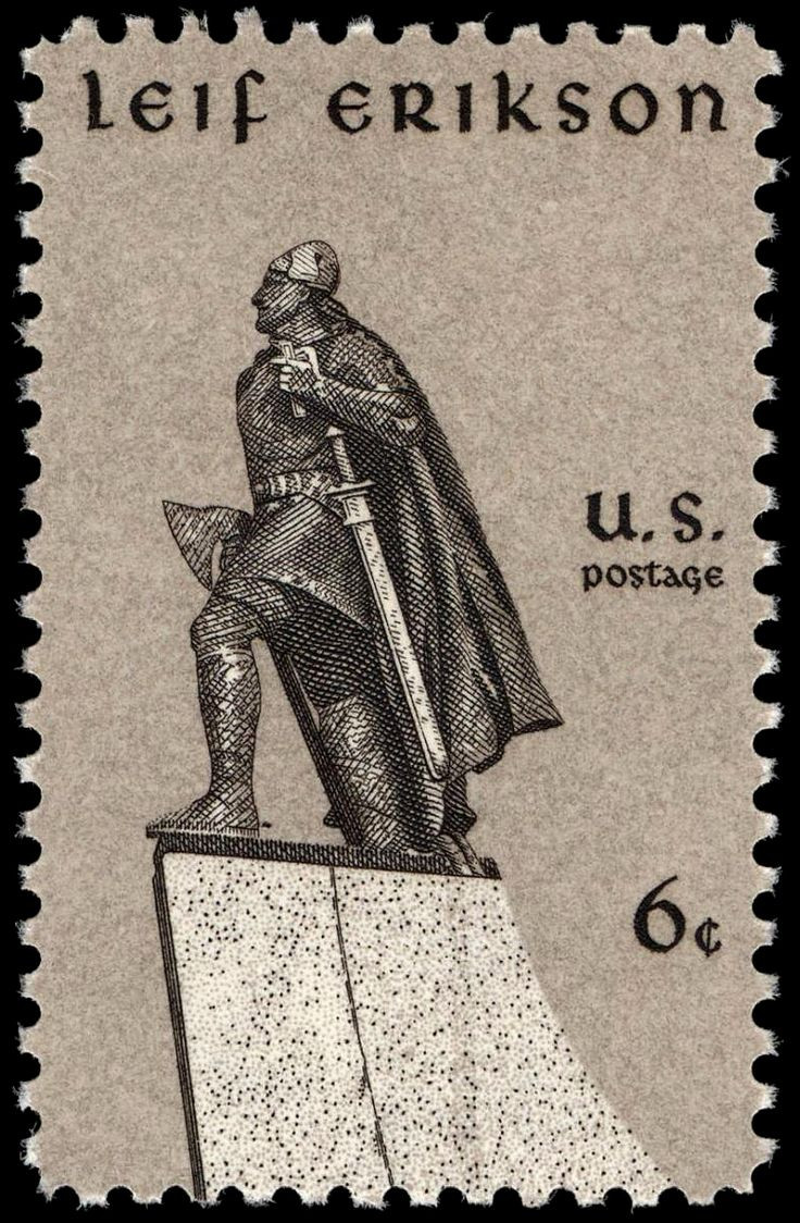 us stamp featuring leif erikson