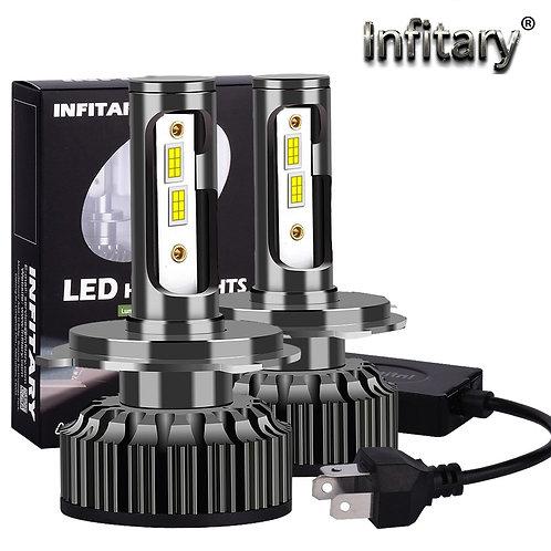 Infitary Canbus V8 H4 H7 LED Truck Car Headlight Bulbs 20000LM 12V 24V 36V
