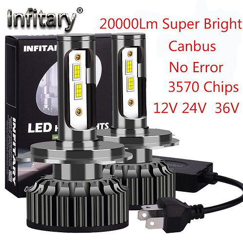 20000lm super bright Bulb Canbus error free 12v 24v LED Car Headlights