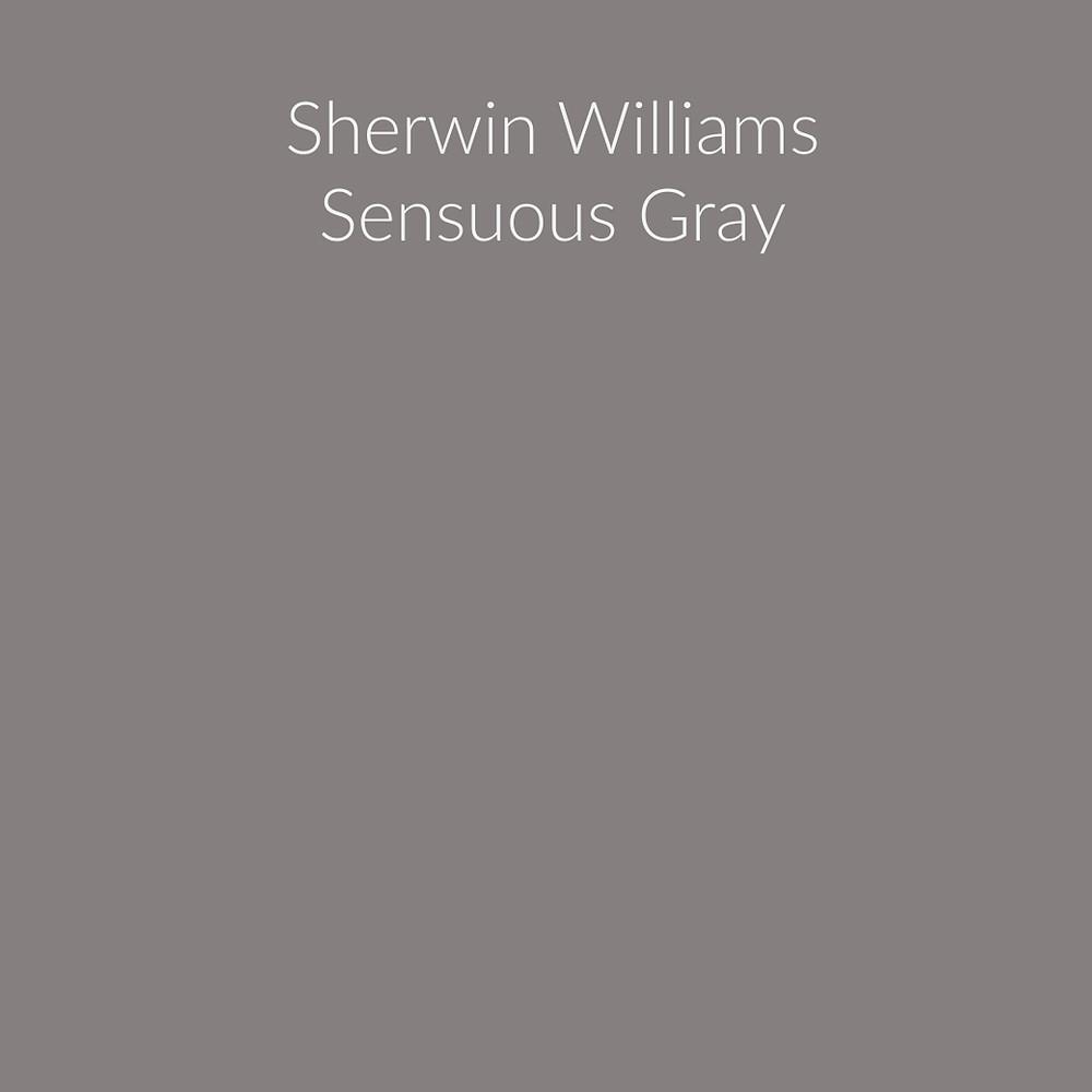 Sherwin Williams Sensuous Gray