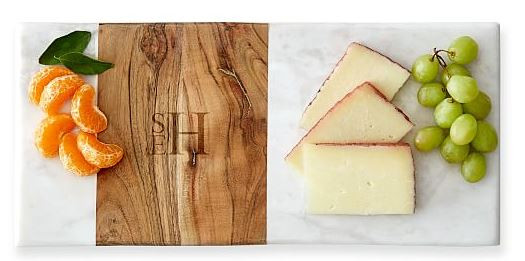 Mark & Graham wood marble cheese board