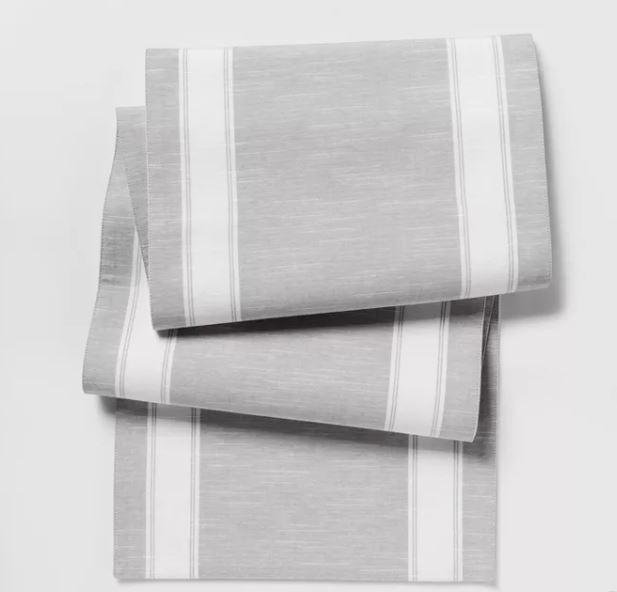 Threshold gray stripe table runner Target