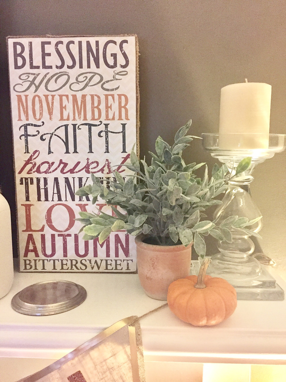 Fall home decor pumpkins mantle how to decorate