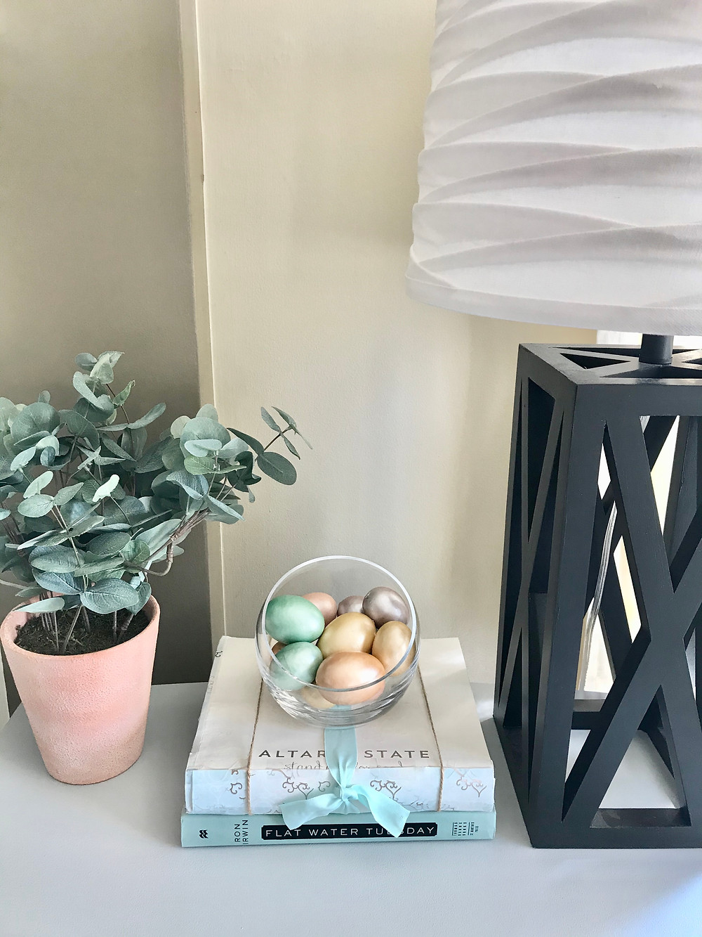 Easter eggs spring home decor