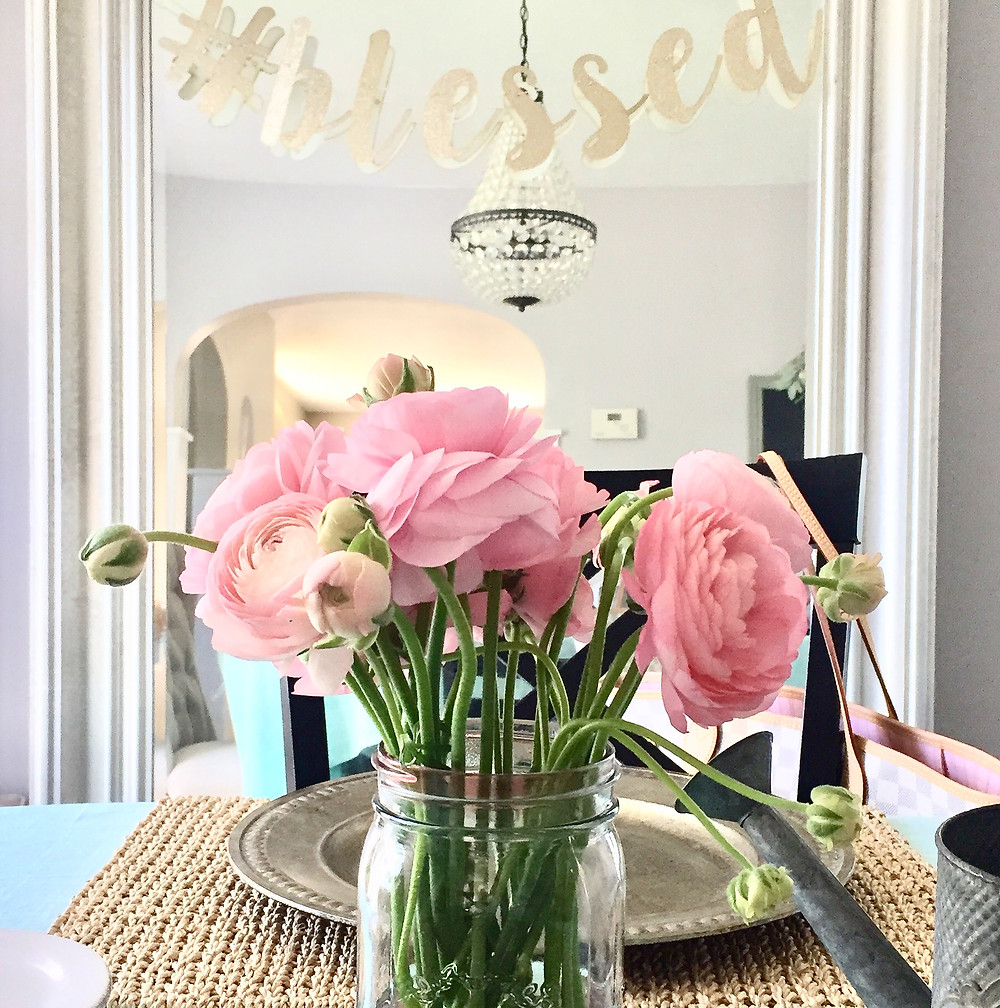 Flowers Easter Spring Dining Table Decor