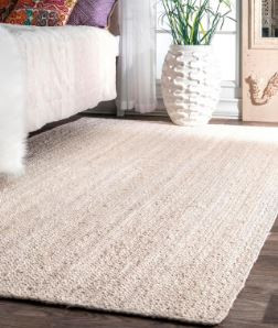 Natural woven rug Home Depot