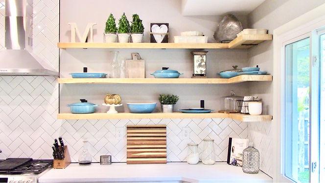 Kitchen open shelving style home decor