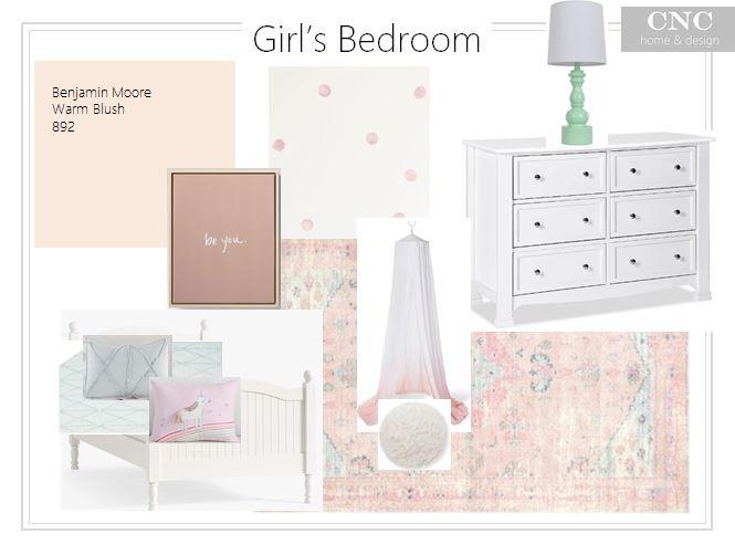 Interior design ideas girl's bedroom pink toddler