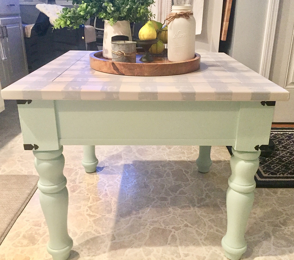 Farmhouse inspired painted wood table
