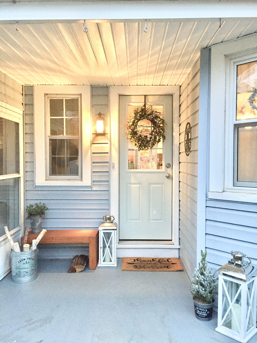 Christmas porch holiday farmhouse decor
