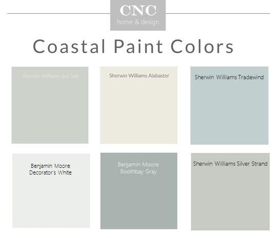 Coastal beachy neutral paint colors Sherwin Wiliams Benjamin Moore