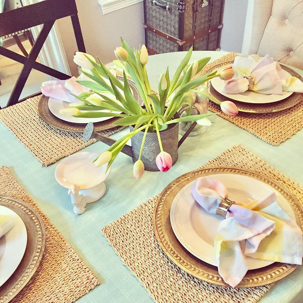 Spring Easter Dining Table Centerpiece Home Decor