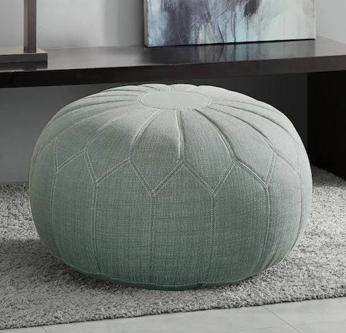 seafoam green pouf from Kohl's