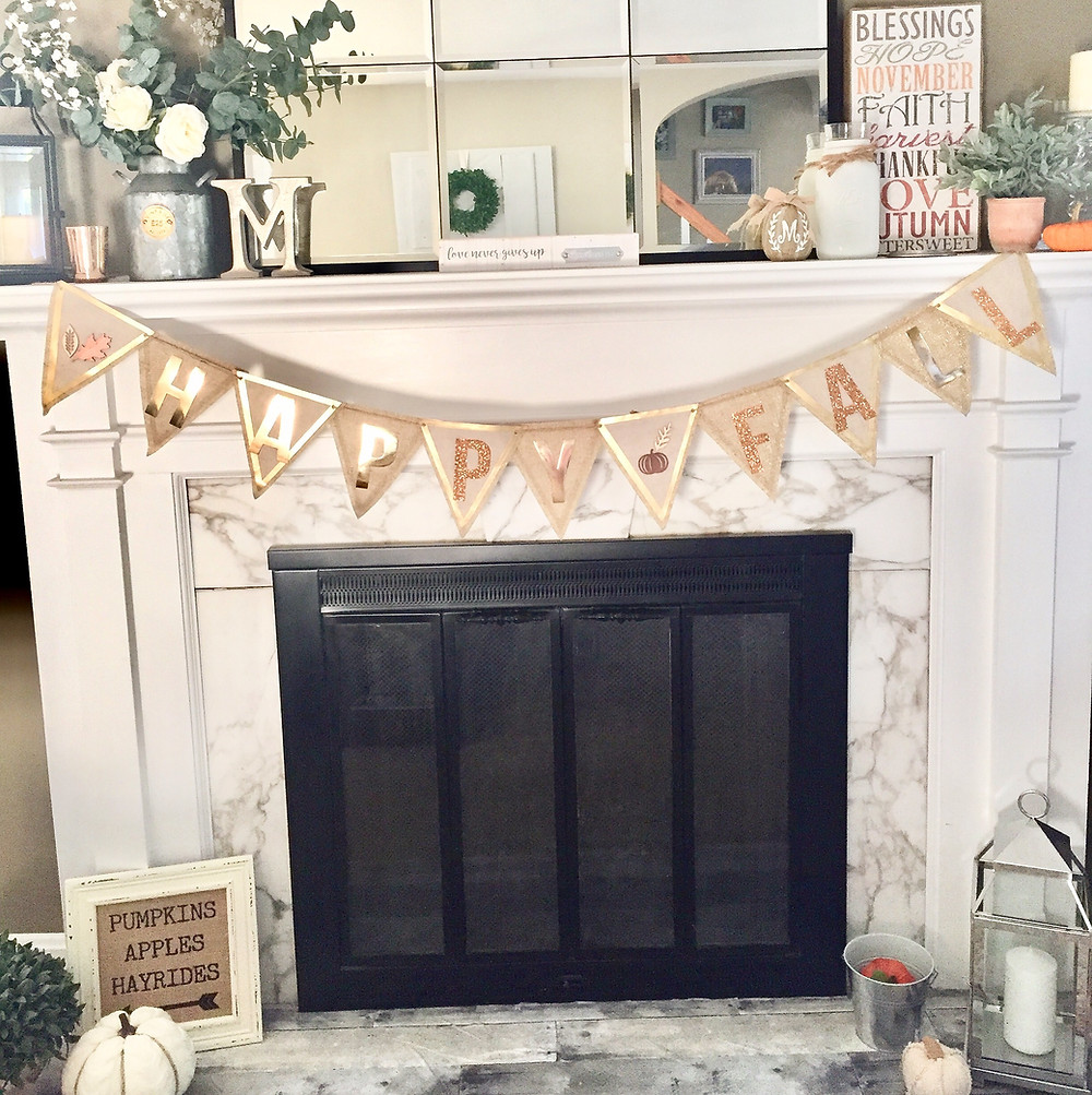 How to decorate fall mantle farmhouse style