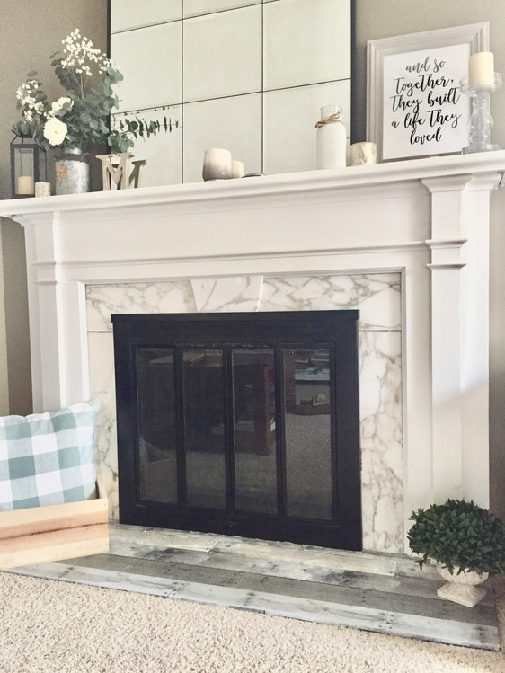 Simple DIY: How to makeover your fireplace