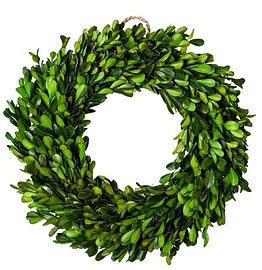 Dried boxwood leaf wreath.JPG