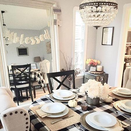 Fall dining room farmhouse home decor