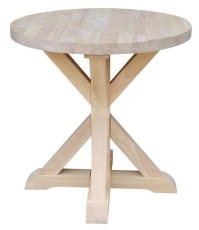 Home Depot natural wood side table coastal decor