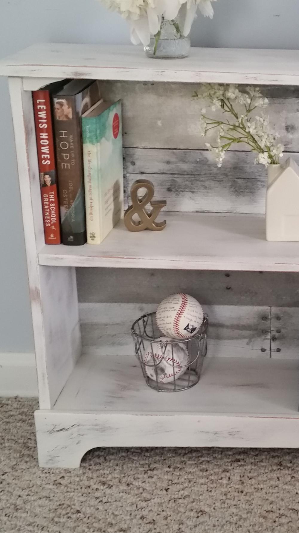 Farmhouse style DIY barnwood shelf