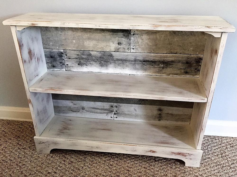 Farmhouse barnwood distressed DIY shelf