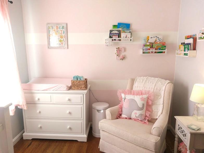 Behr Pink Prism Baby Girl Nursery