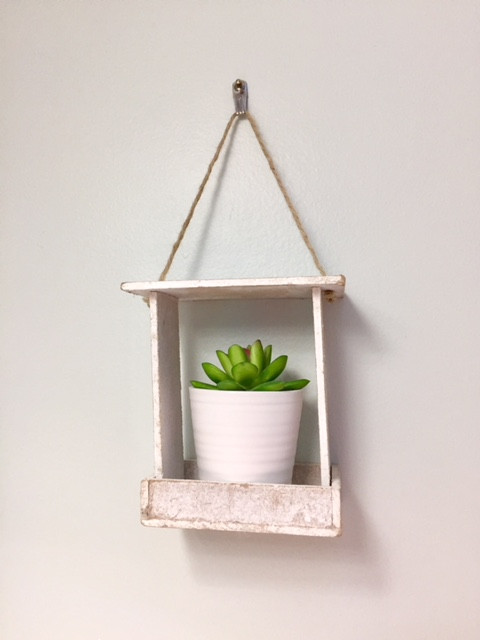Farmhouse style potted succulent hanging plant