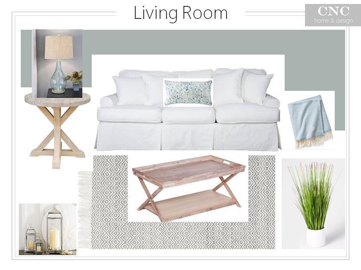 Coastal style beachy interior design decor