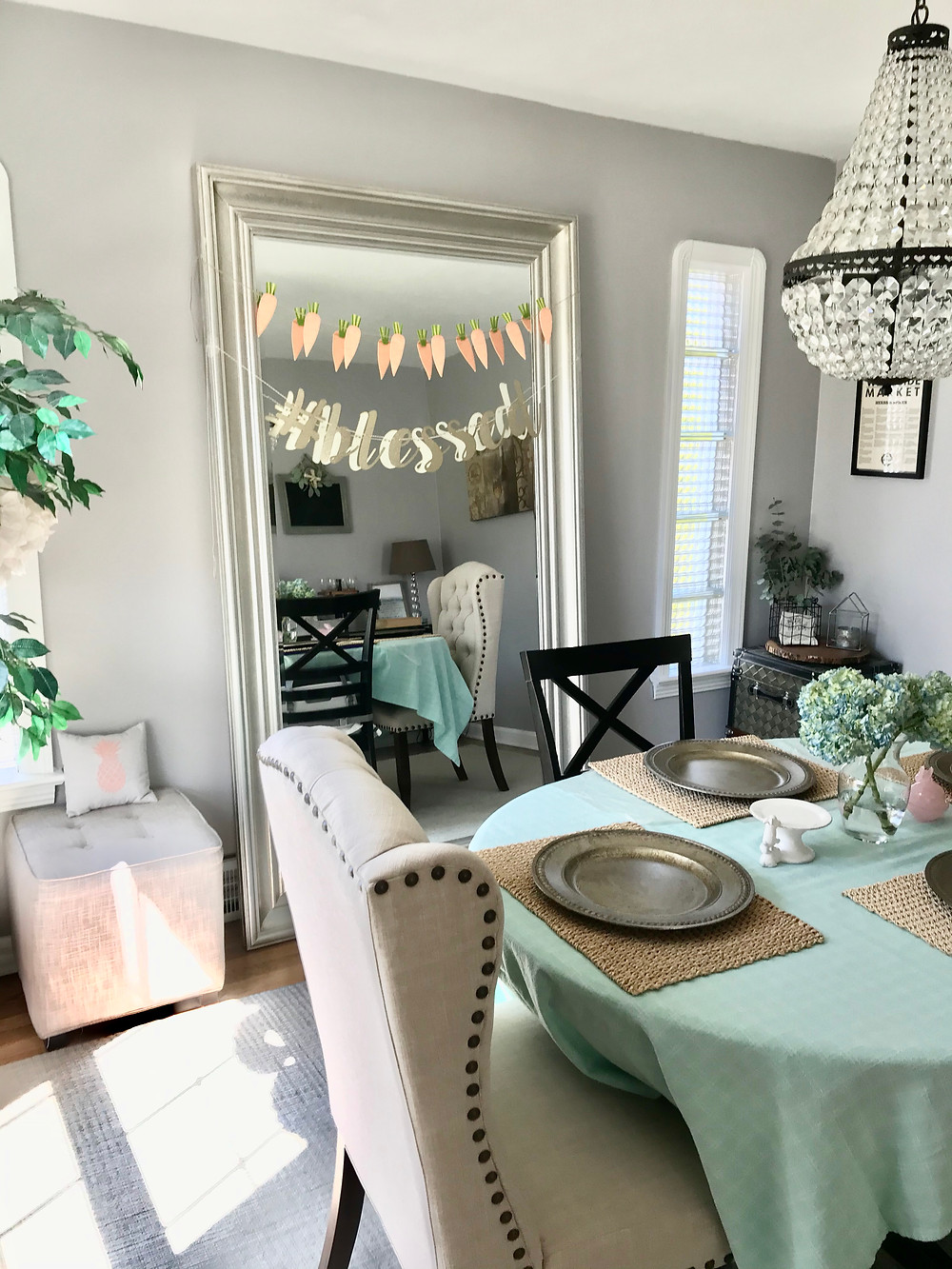 Spring Easter Dining Room Decor