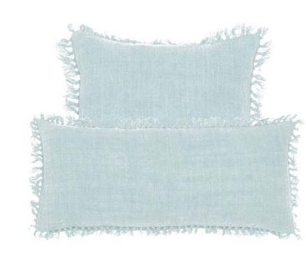 Annie Selke linen pillows coastal decor