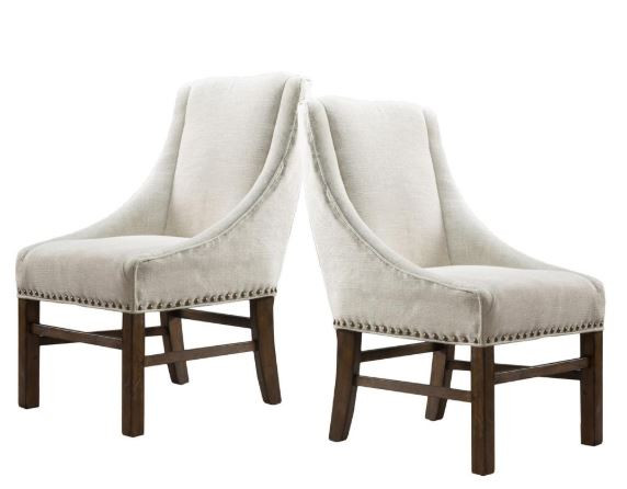 neutral nailhead trim dining side chairs Home Depot
