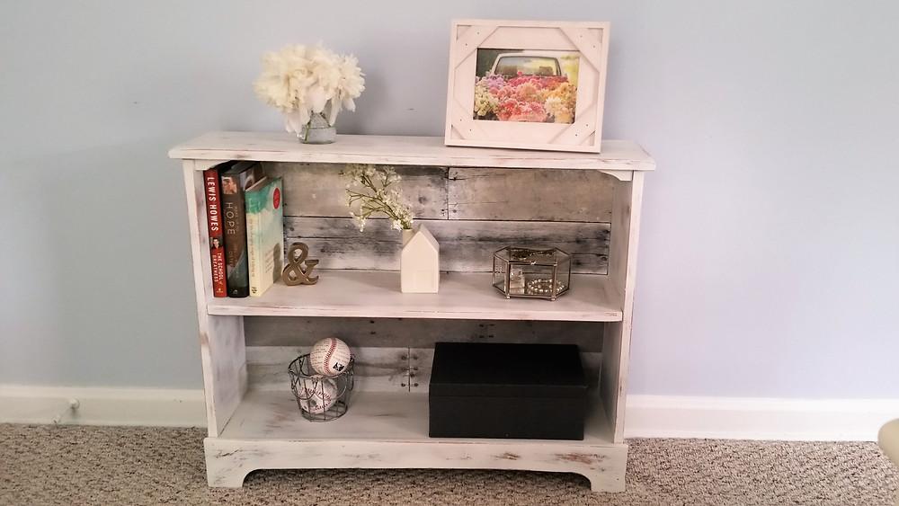 Farmhouse barnwood distessed DIY shelf home decor