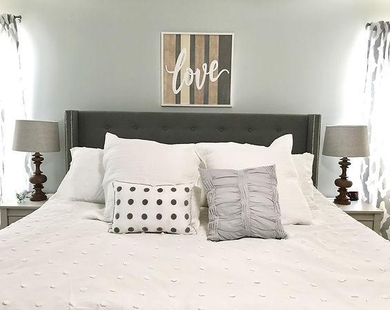 Bedroom interior design sea salt