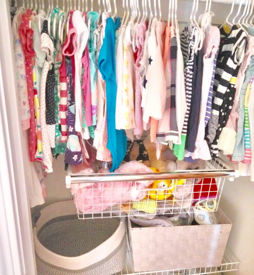Child's closet storage