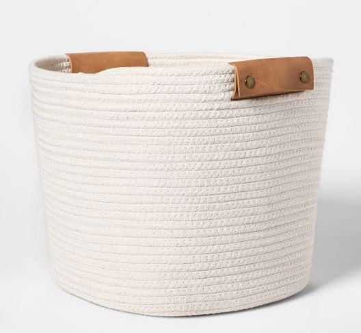 Threshold Target white coiled rope storage baskets